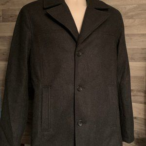 MEN'S CLAIBORNE SIZE SMALL WOOL PEA COAT
